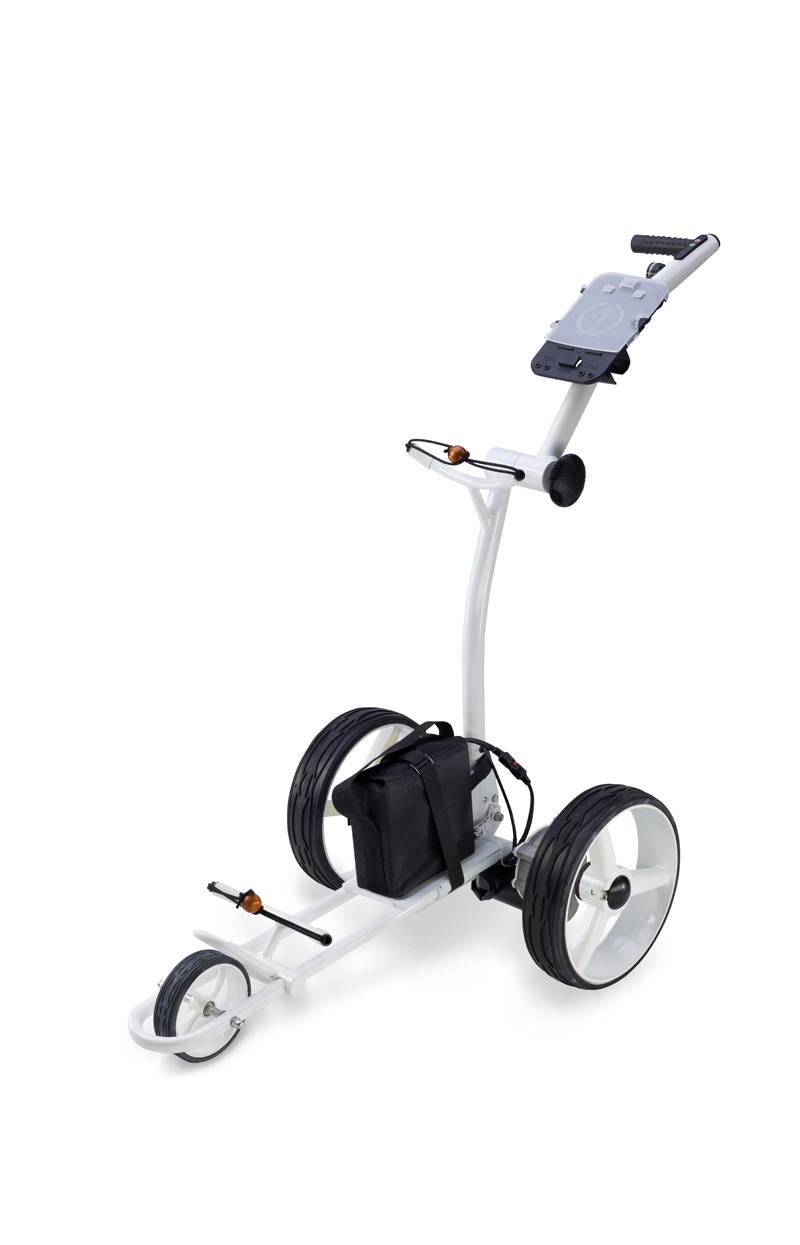 elektro golf trolley caddy gt x400 pro 350 w white. Black Bedroom Furniture Sets. Home Design Ideas